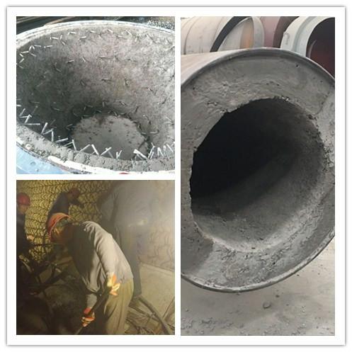 3#湿法长窑窑口浇注料的热